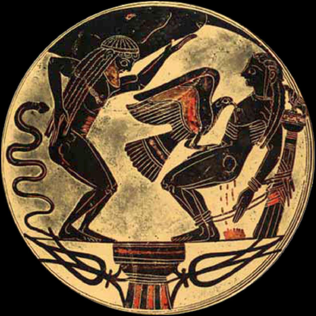 Arkesilas-Maler, Der gefesselte Prometheus (ca. 560 v. Chr.)