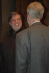 Justus Schieback erhielt die goldene Römerplakette, wie Thomas Mausbach zu Beginn des Vortrags bekanntgab